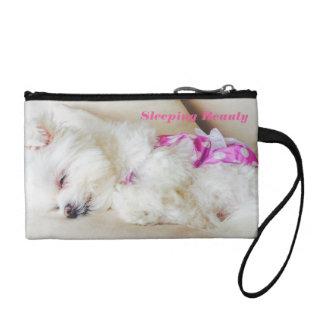 睡眠のマルタの子犬の硬貨の財布 コインパース