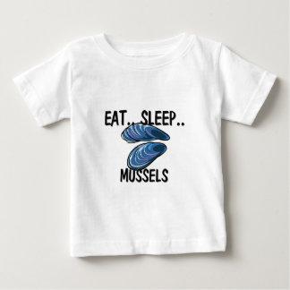 睡眠のムラサキ貝を食べて下さい ベビーTシャツ