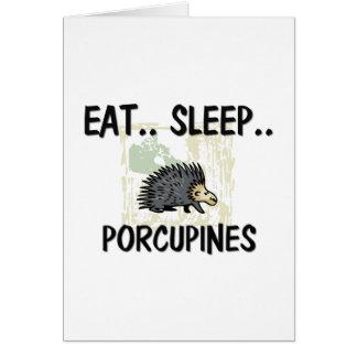 睡眠のヤマアラシを食べて下さい カード