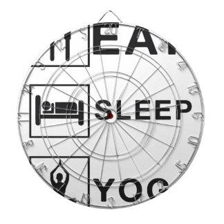 睡眠のヨガを食べて下さい ダーツボード