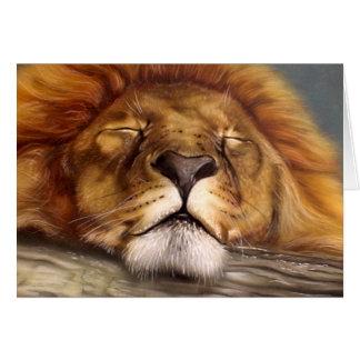 睡眠のライオン カード