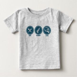 睡眠のラクロスのベビーのワイシャツを食べて下さい ベビーTシャツ