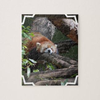 睡眠のレッサーパンダのパズル ジグソーパズル