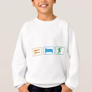 睡眠のロックの上昇を食べて下さい スウェットシャツ