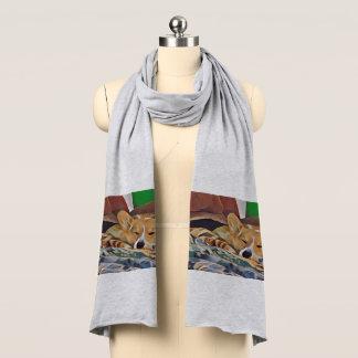 睡眠の三色のウェルシュコーギー スカーフ
