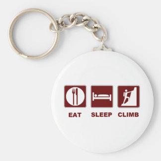 睡眠の上昇のTシャツおよびギフトのデザインを食べて下さい キーホルダー