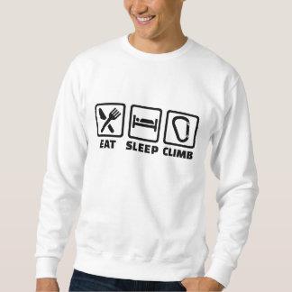睡眠の上昇を食べて下さい スウェットシャツ