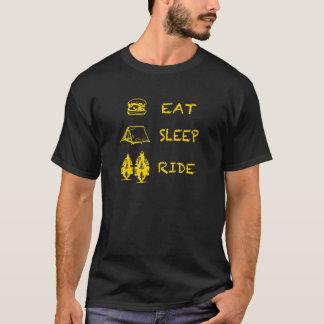 睡眠の乗車を食べて下さい Tシャツ