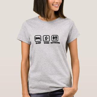 睡眠の仕事のボーイフレンド Tシャツ