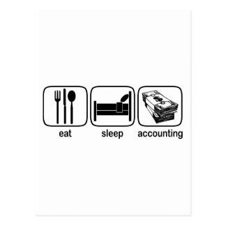 睡眠の会計を食べて下さい ポストカード