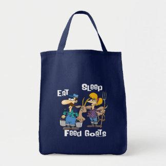 睡眠の供給のヤギを食べて下さい トートバッグ
