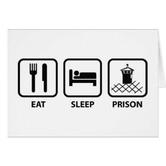 睡眠の刑務所を食べて下さい カード