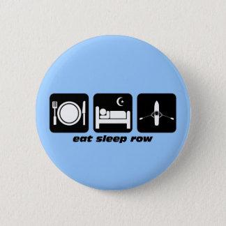 睡眠の列を食べて下さい 5.7CM 丸型バッジ
