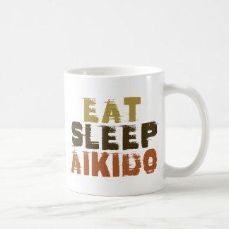 睡眠の合気道を食べて下さい コーヒーマグカップ