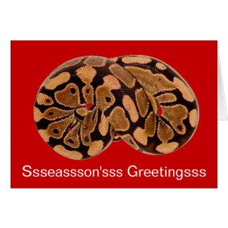 睡眠の大蛇のクリスマスカード カード