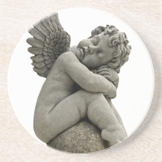 睡眠の天使の天使の彫刻のコースター コースター
