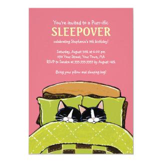 睡眠の子ネコの眠りのパーティの招待状 カード