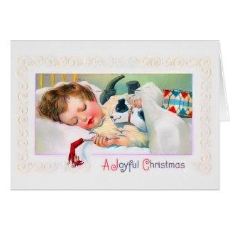 睡眠の子供のクリスマスカード カード