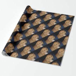 睡眠の子犬の包装紙 ラッピングペーパー