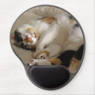 睡眠の子猫のゲルのマウスパッド ジェルマウスパッド