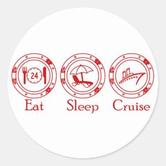 睡眠の巡航を食べて下さい ラウンドシール