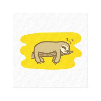睡眠の怠惰のCavasのデザイン キャンバスプリント