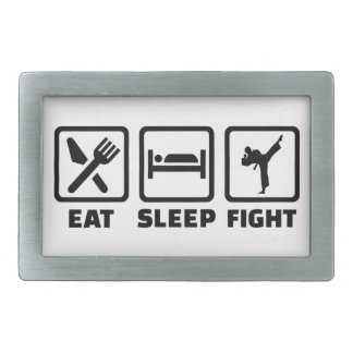 睡眠の戦いの空手を食べて下さい 長方形ベルトバックル