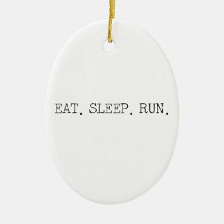 睡眠の操業を食べて下さい セラミックオーナメント