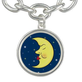 睡眠の月の地球の星明かりの空 ブレスレット