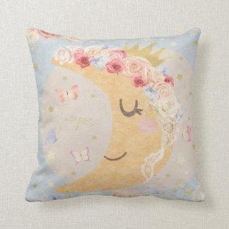 睡眠の月のBohoの蝶ベビーの子供部屋の枕 クッション