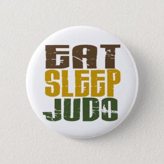 睡眠の柔道1を食べて下さい 5.7CM 丸型バッジ