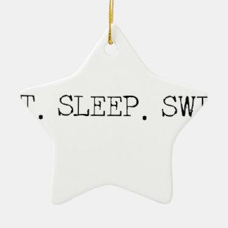 睡眠の水泳を食べて下さい セラミックオーナメント
