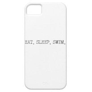 睡眠の水泳を食べて下さい iPhone SE/5/5s ケース