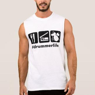 睡眠の演劇のドラムアイコンを食べて下さい 袖なしシャツ