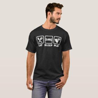 睡眠の演劇のバドミントンを食べて下さい Tシャツ