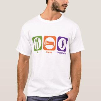 睡眠の演劇のユーフォニアムを食べて下さい Tシャツ