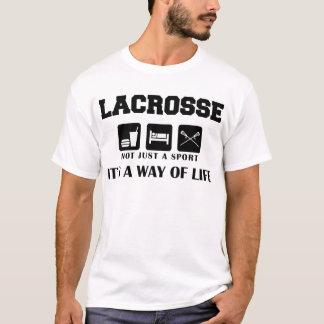 睡眠の演劇のラクロスを食べて下さい Tシャツ