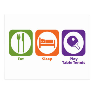 睡眠の演劇の卓球を食べて下さい ポストカード
