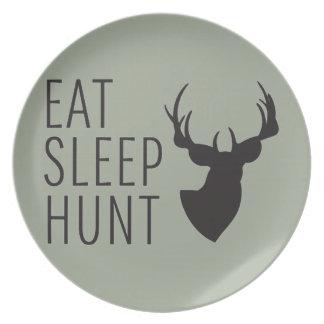 睡眠の狩りを食べて下さい プレート