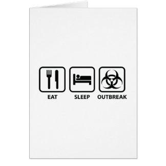 睡眠の発生を食べて下さい カード