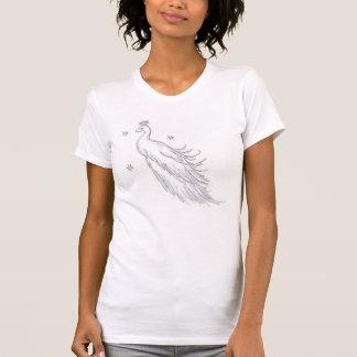 睡眠の白い孔雀 Tシャツ