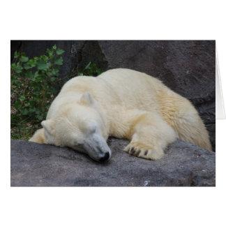 睡眠の白くま ノートカード