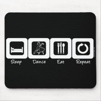 睡眠の社交ダンスは繰り返しを食べます マウスパッド