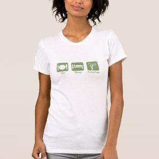 睡眠の系図学を食べて下さい Tシャツ