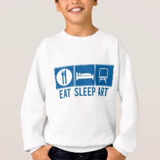 睡眠の芸術を食べて下さい スウェットシャツ