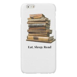 睡眠の読書を食べて下さい 光沢iPhone 6ケース