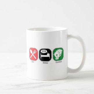 睡眠の賭けを食べて下さい コーヒーマグカップ