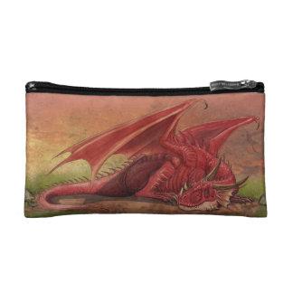 睡眠の赤いドラゴン コスメティックバッグ