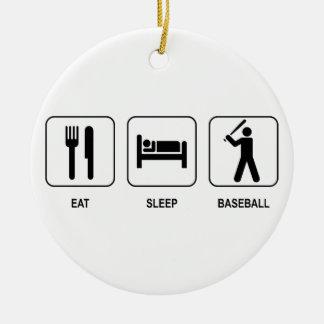 睡眠の野球のオーナメントを食べて下さい セラミックオーナメント