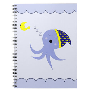 睡眠の青いタコ ノートブック